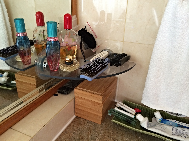 Bathroom Stick-on Storage After Image