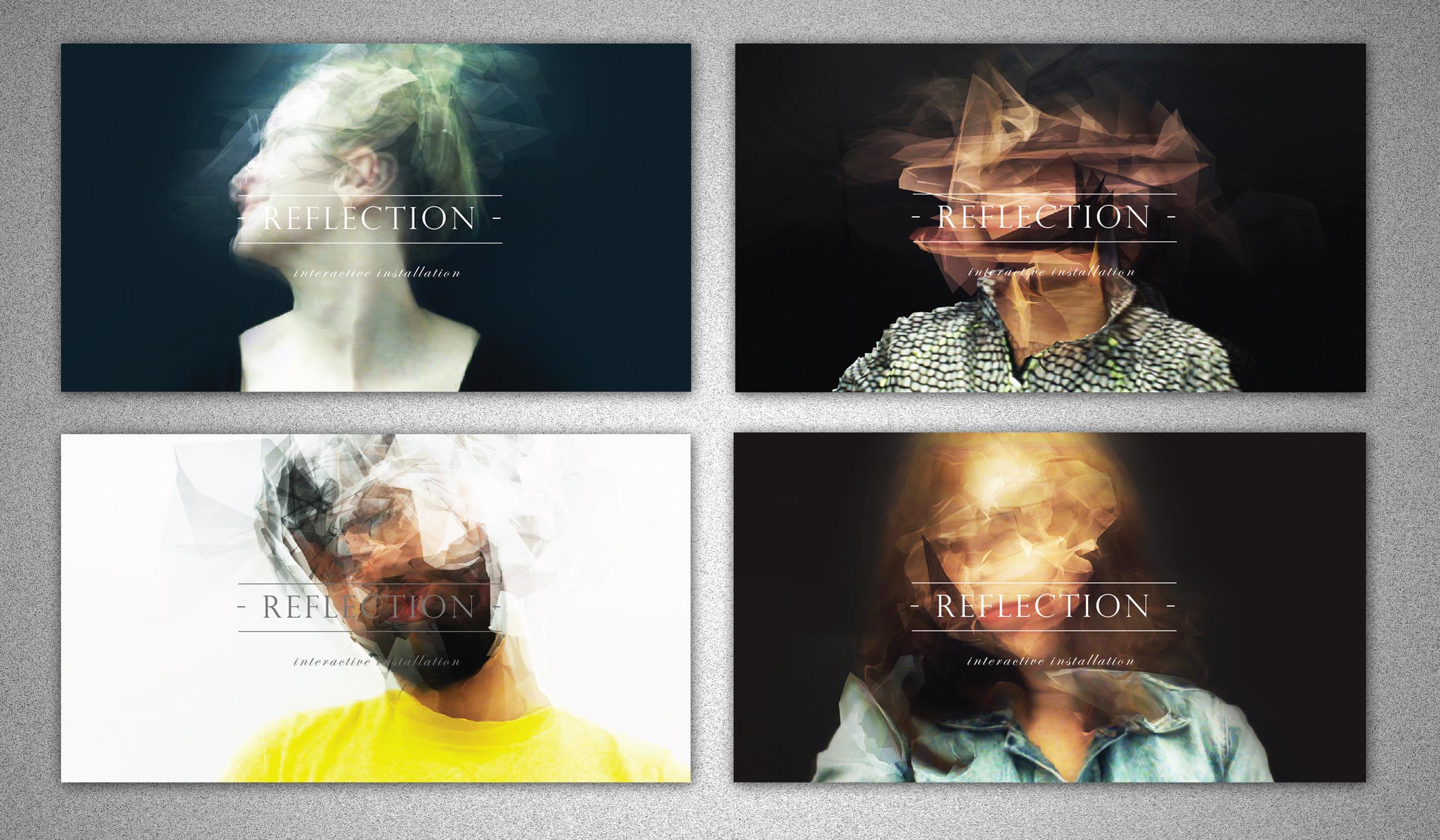 Postcard design for my thesis project [Reflection] People in the images: Kamilla Kielbowska, Joori Lee,Gustavo Faria, Maxine Kim