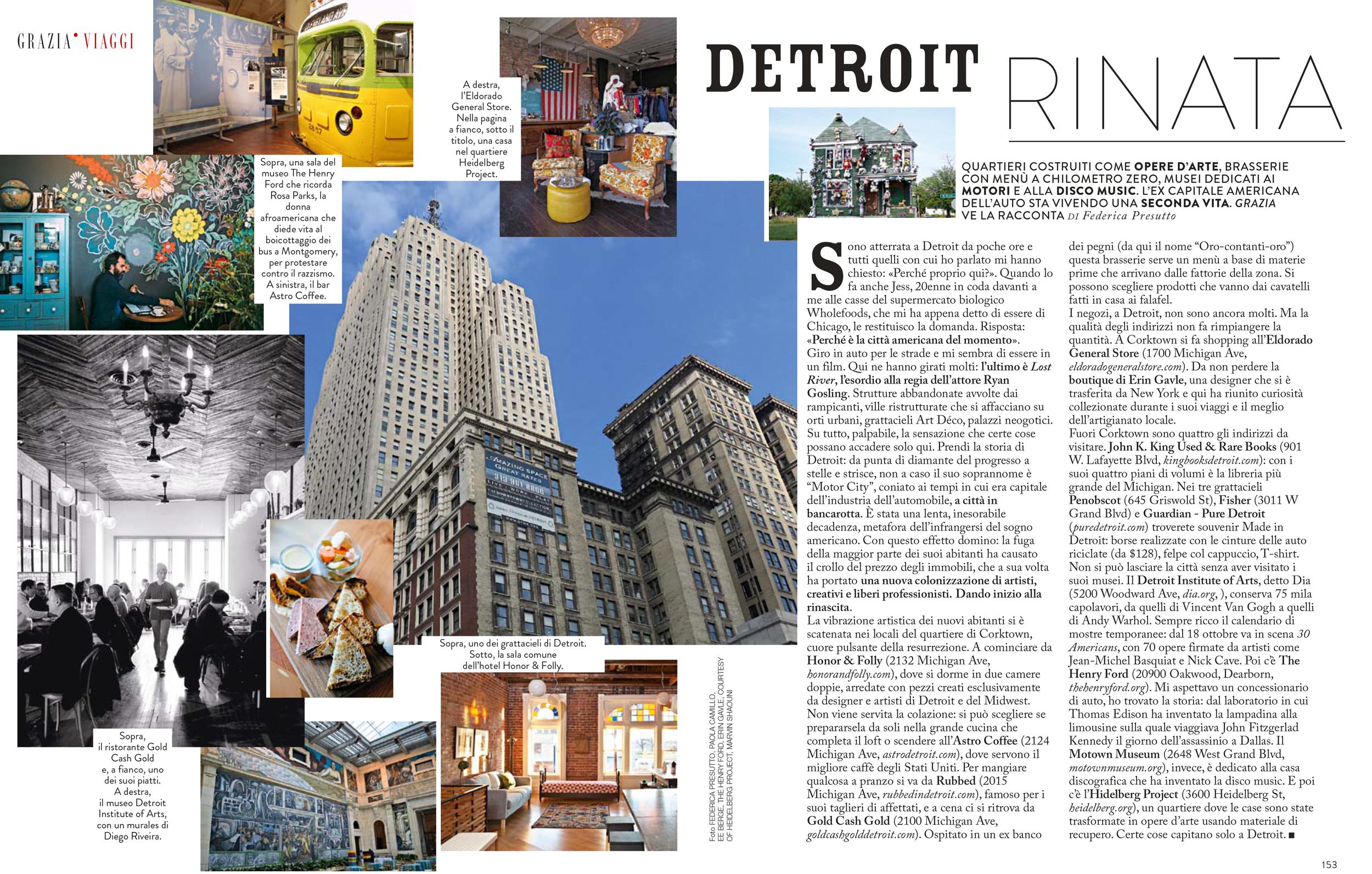 Eldorado General Store Grazia Italy Magazine Detroit