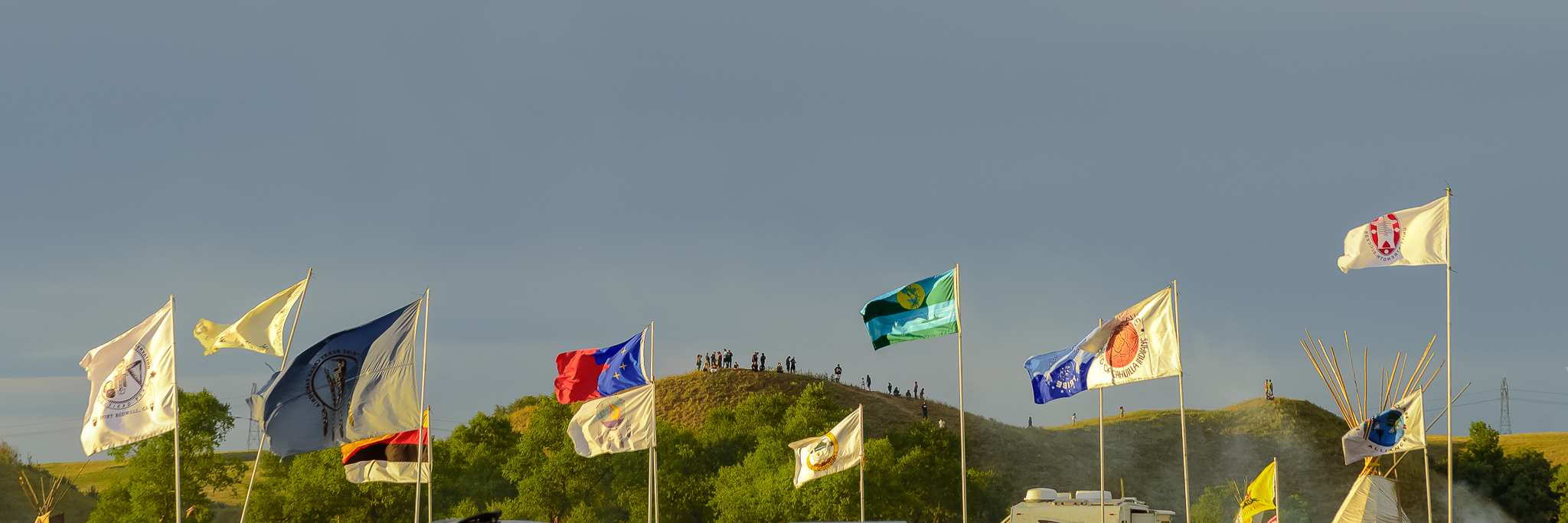 Over 200 flags flew at Standing Rock, each representing a Native Nation in attendance. Standing Rock Reservation Area, ND.