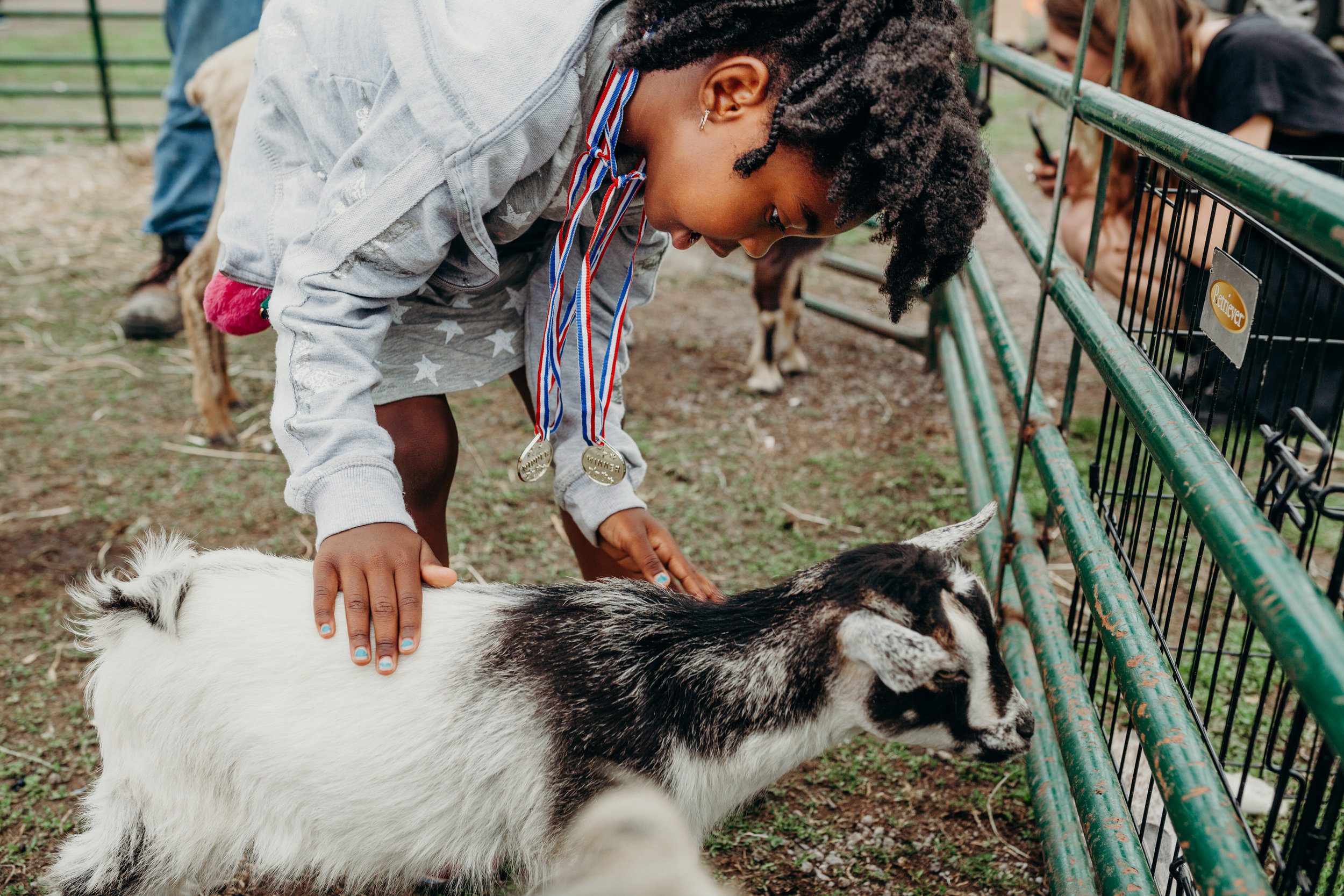 Petting Farm pop-up Sponsored by Bobcat Bonnies at Spring Into Corktown / 2018 / Photo by  Lydia Cournoyer Photography
