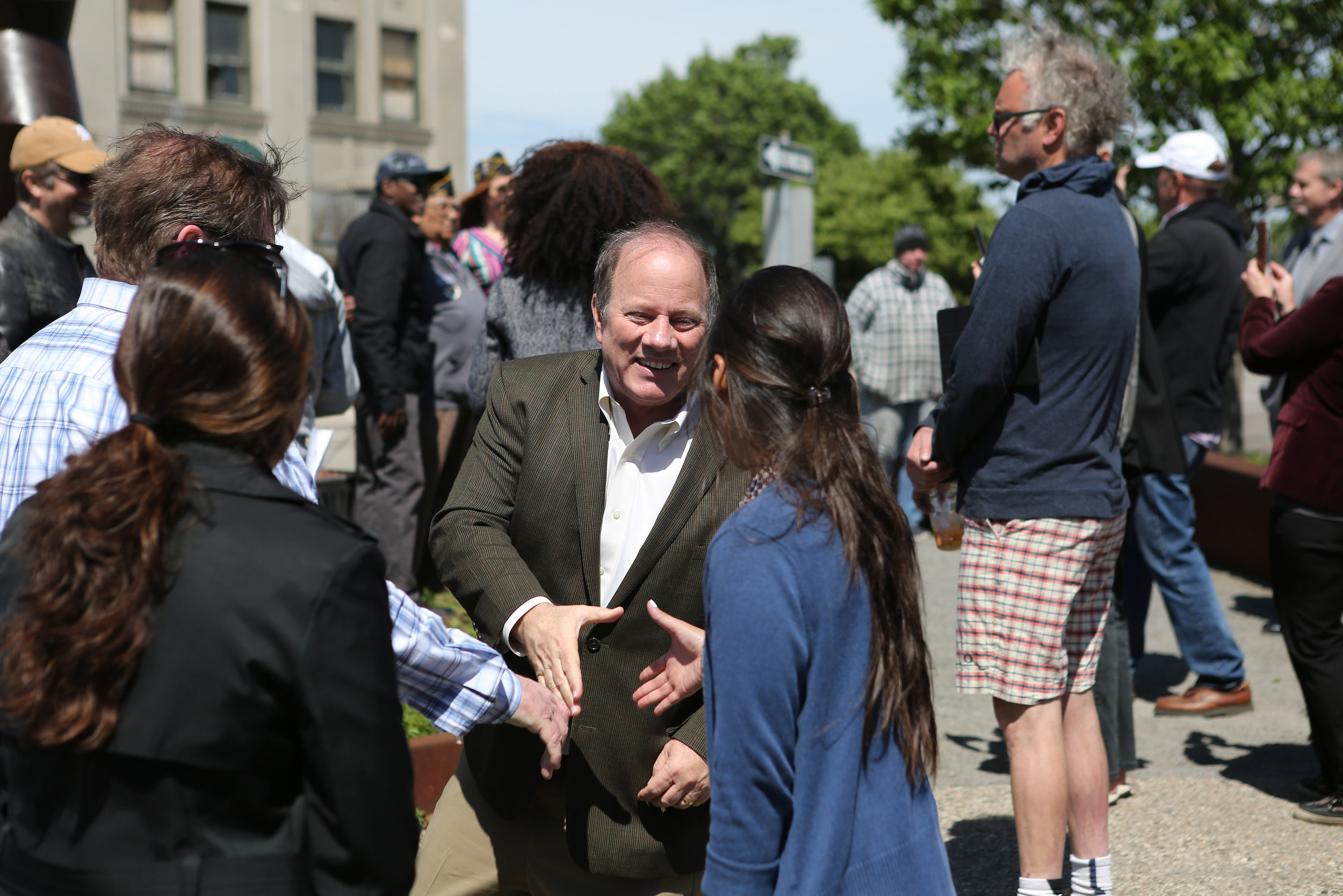 Mayor Duggan joining in the Inaugral Spring Into Corktown festivities / Spring 2017 / Photo by  Sarah Barthlow