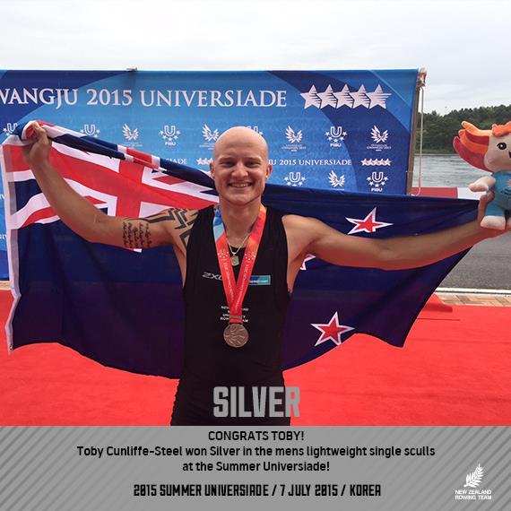 Toby Cunliffe-Steel 2015 Gwangju Universiade Silver medalist
