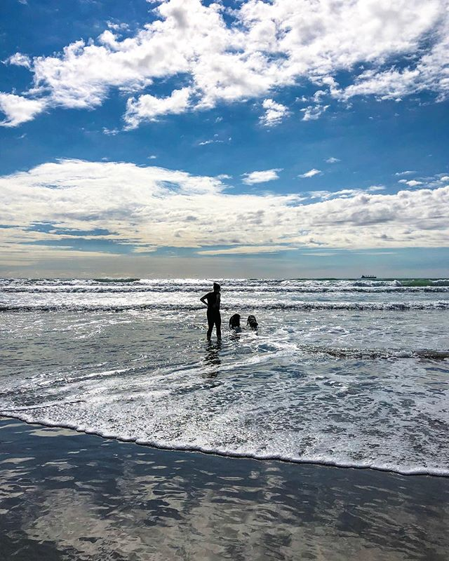 Beach trips. One of the kids favourite activities. #beach #sun #sand #surf #waves #horizon #BlueSky #Paradise