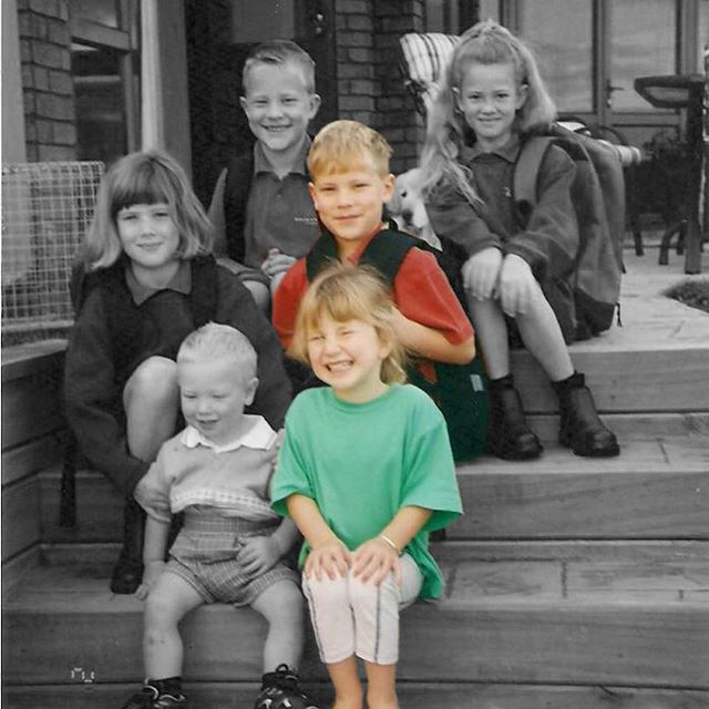 Happy Siblings Day... for yesterday. My brother wouldn't have the foggiest what day it is and my sister is a day behind so I think I can get away with being a bit slow. From the first day of school with our cuzzies to the wedding of our Aunty (same cuzzies mum) some years later. There's a lot less fight these days. 📸: No bloody idea #Siblings #InternationalSiblingsDay #Frustrating #Annoying #LoveThemAllTheSame #NamesTattooedToMyArm #JustInCaseIForget