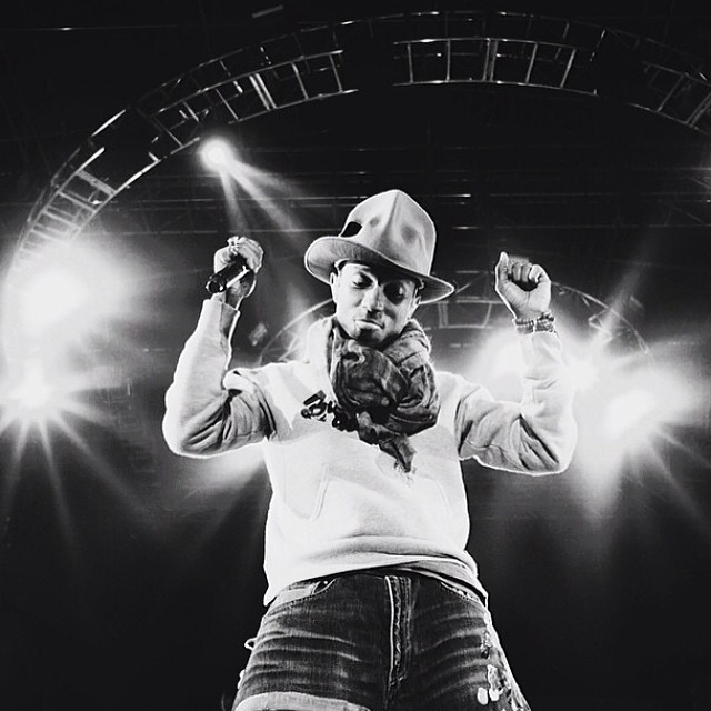 Pharrell during his Coachella 2014 set