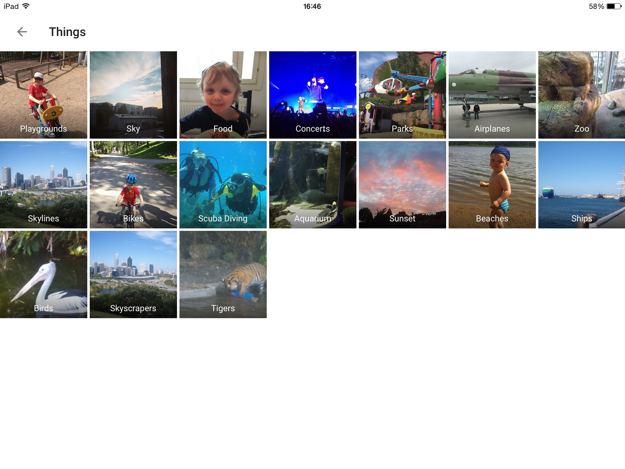 Other 'Things' it did manage to recognise and categorise.