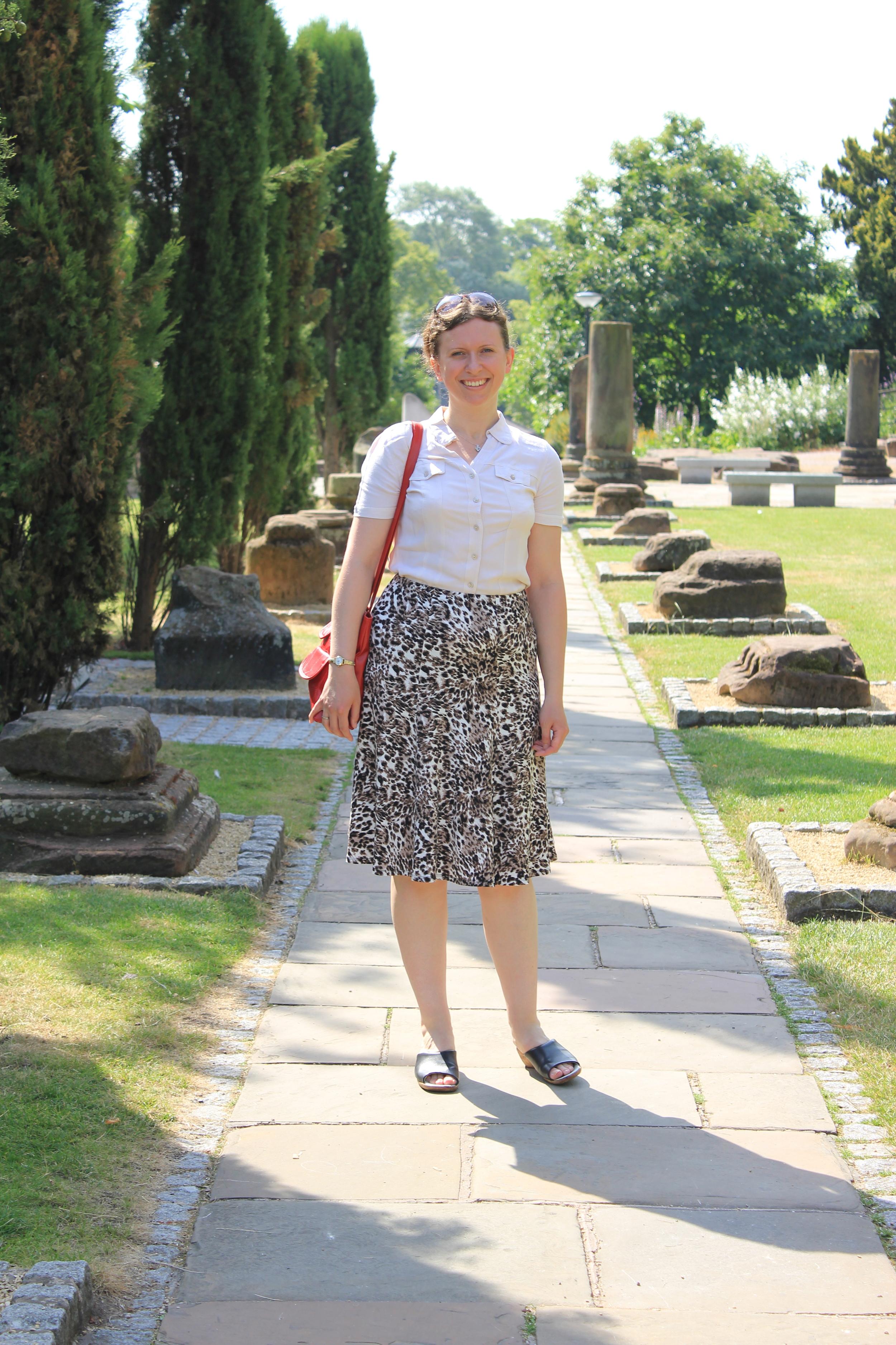 Abi in the Roman Gardens, Chester