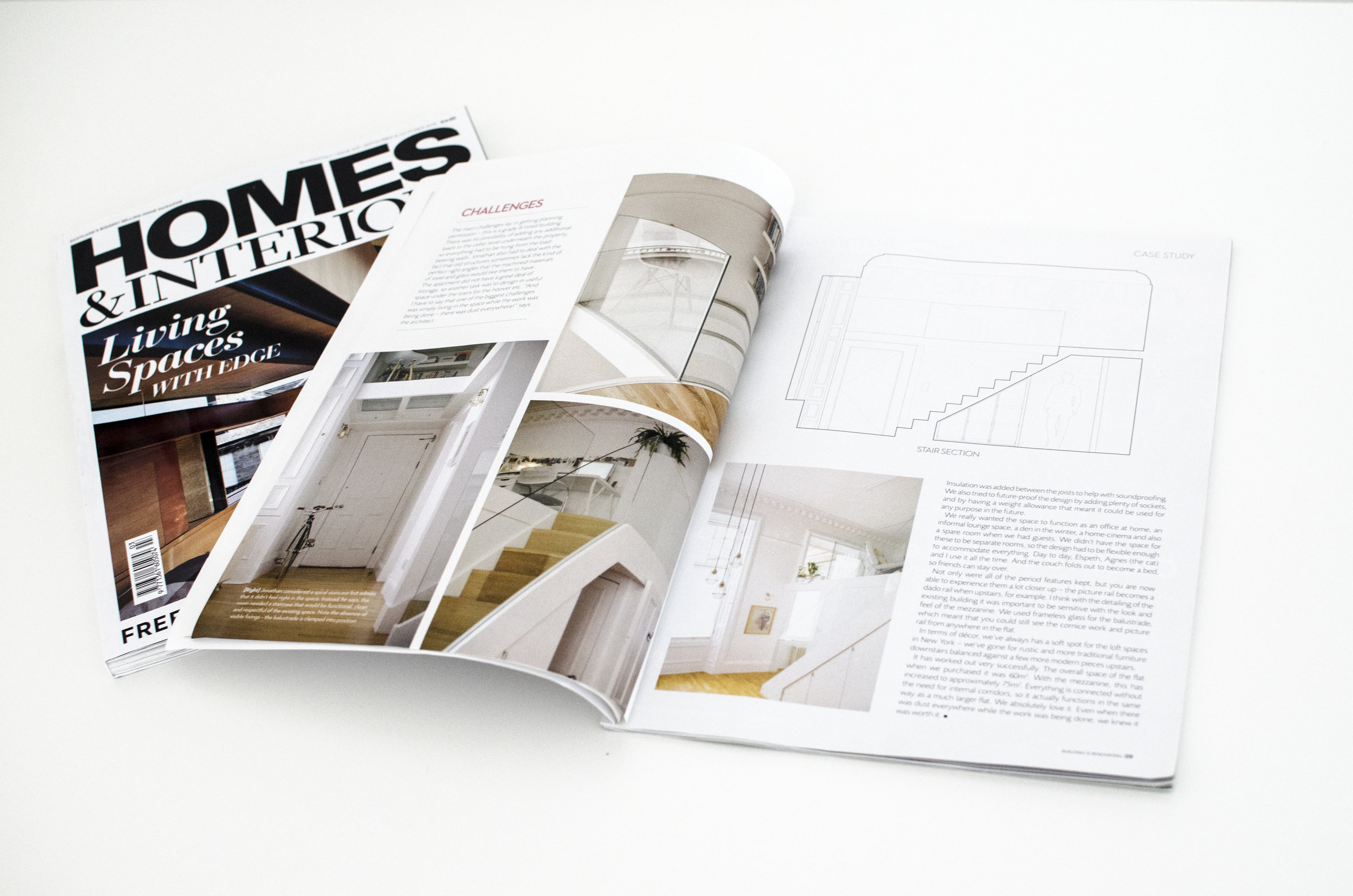We are proud to announce that our Edinburgh West End Mezzanine apartment has recently been featured in the Homes and Interiors Magazine supplement! To read the article click  HERE