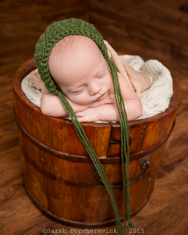 rustic bucket newborn