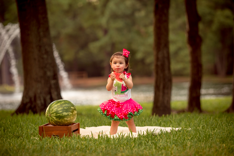 outdoors watermelon cake smash by sarah borchgrevink photography