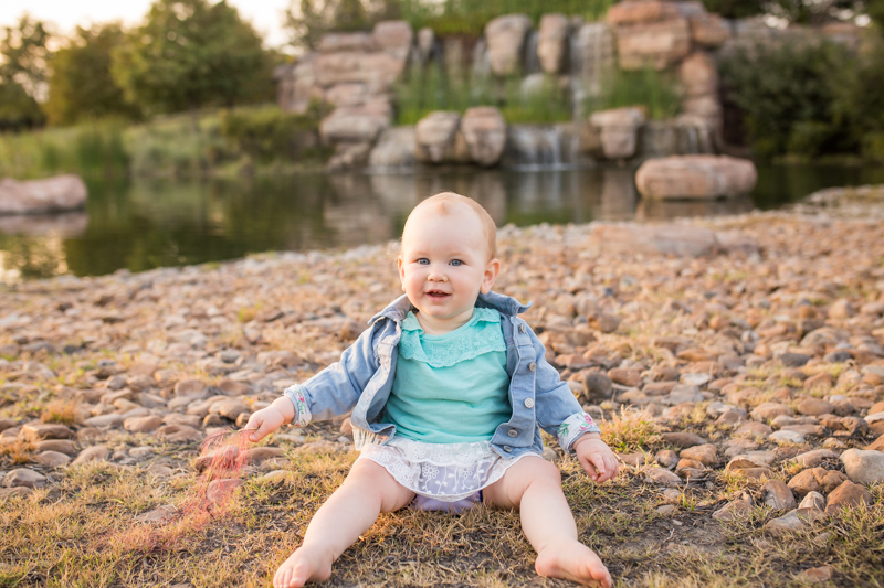 cypress texas one year baby photography session