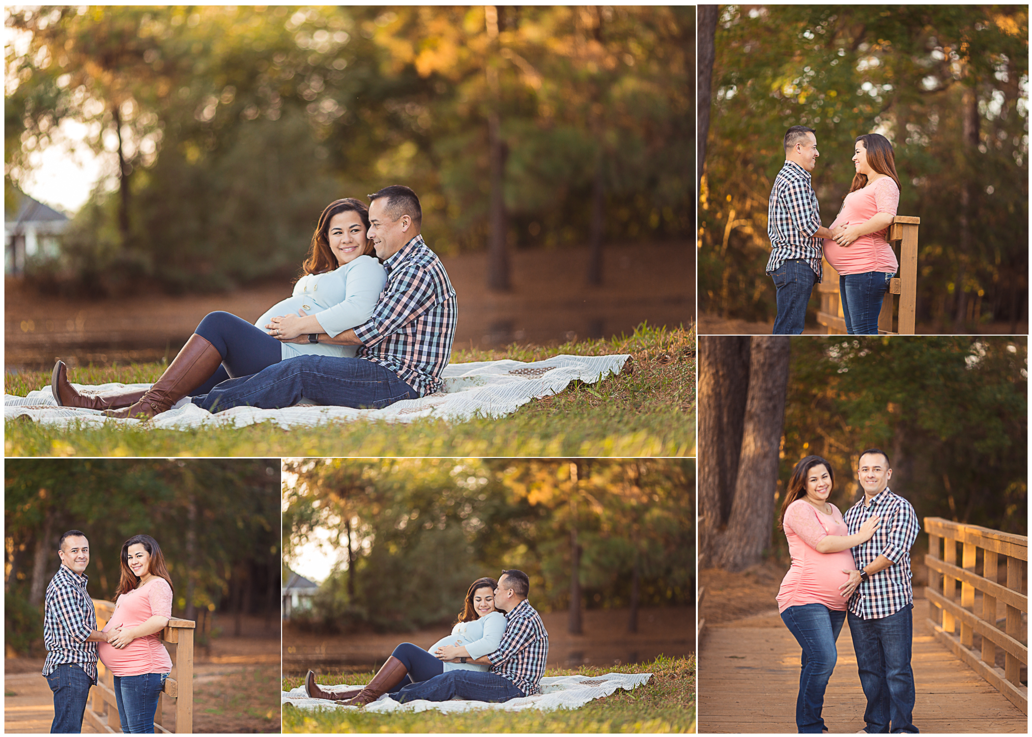 cypress, tomball, katy and houston texas couples maternity session