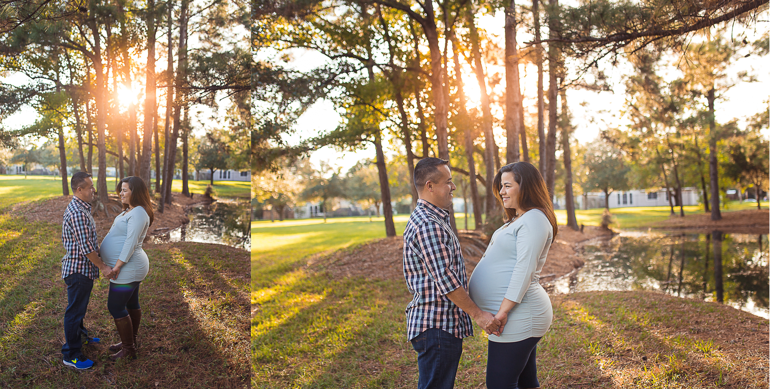 golden hour maternity session by Sarah borchgrevink photography