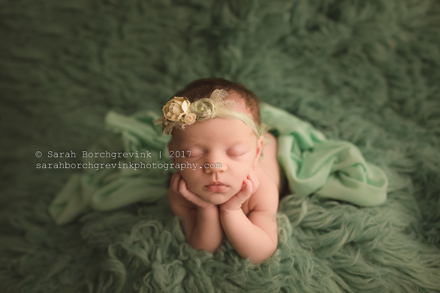 Houston Newborn Photography | Mint Girl Session