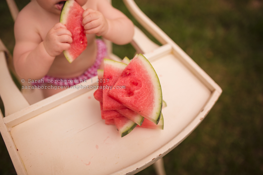 Watermelon Cake Smash Portraits Houston