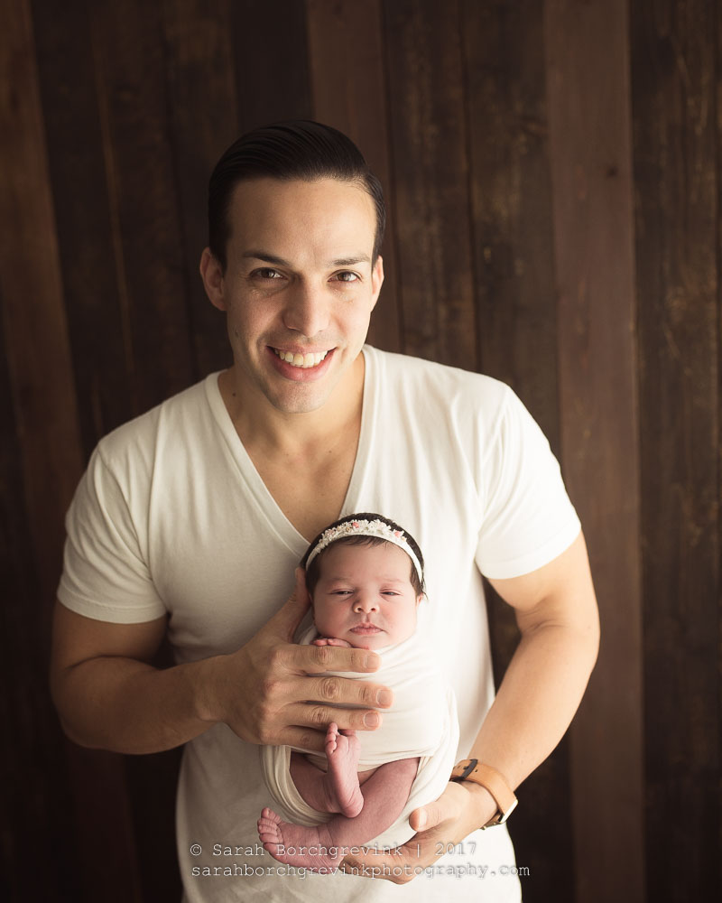 Dad and Newborn Daughter Photography