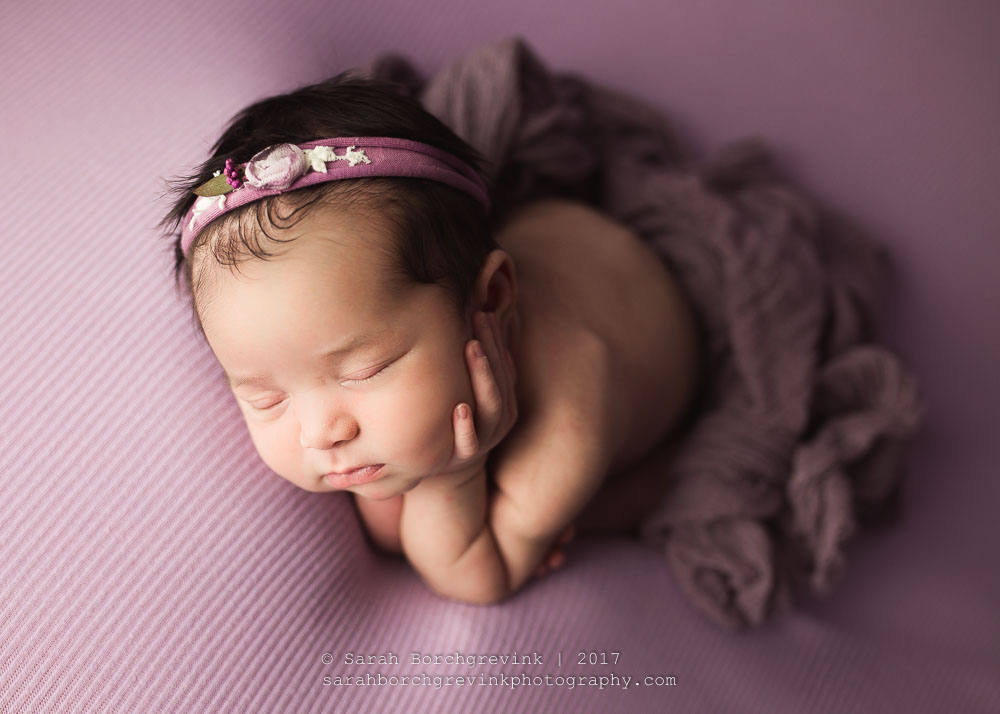 Bean Bag Posing for Newborn Photography