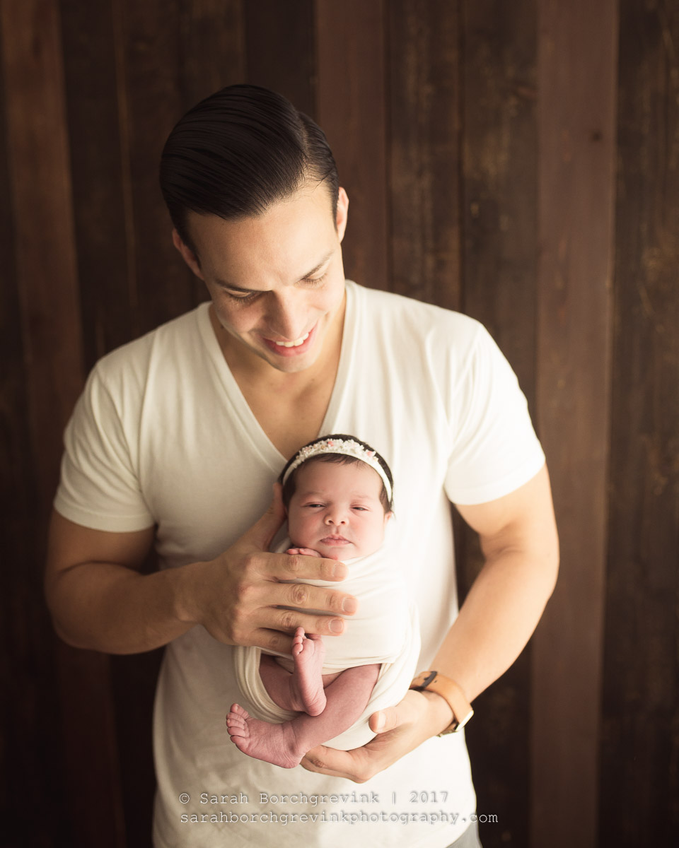 Father and Newborn Photography