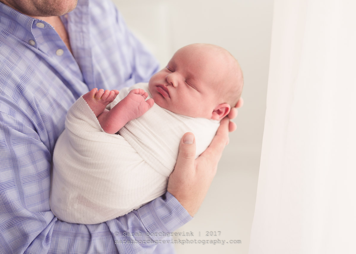 Father and Newborn Photography Posing