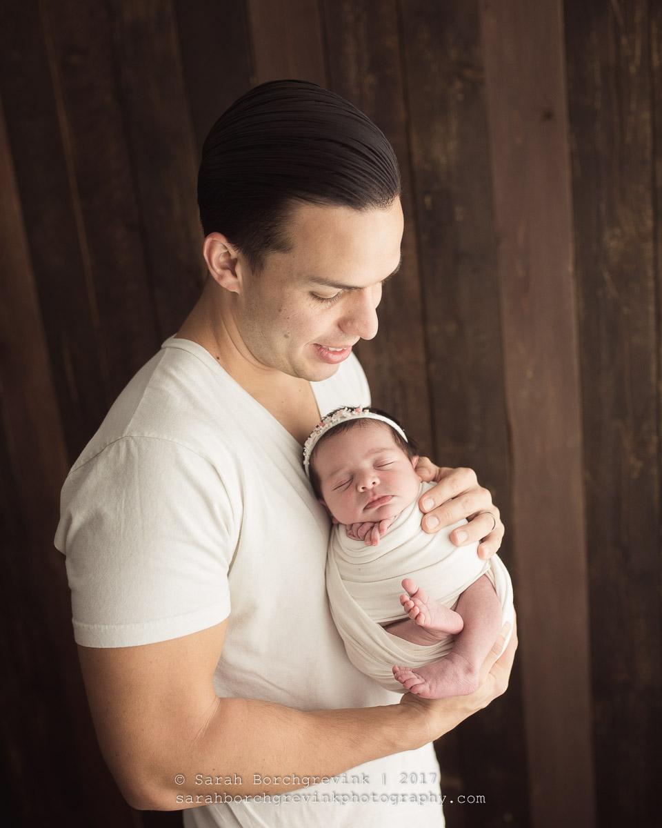 Posing Parents during Newborn Session