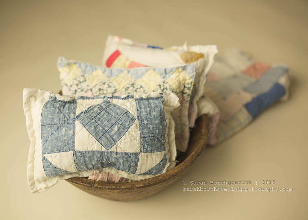 Newborn Photography Vintage Quilt