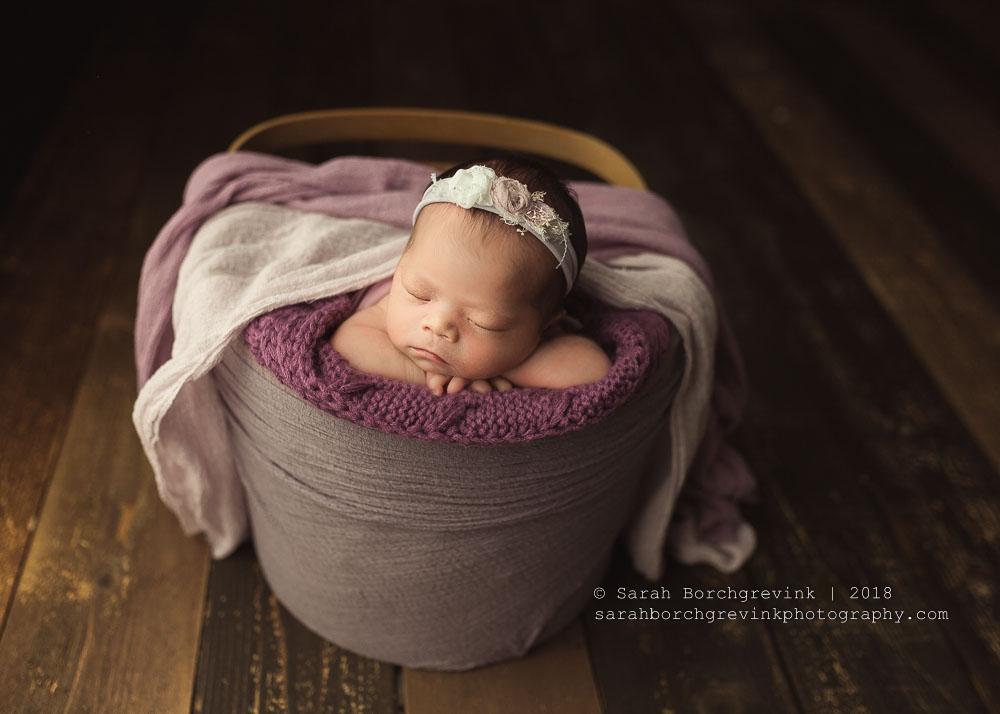 newborn bucket prop