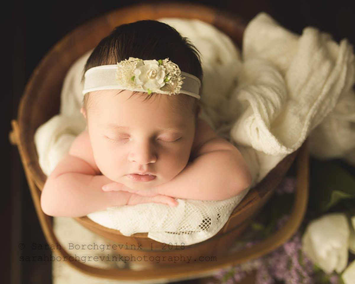 spring newborn photography session