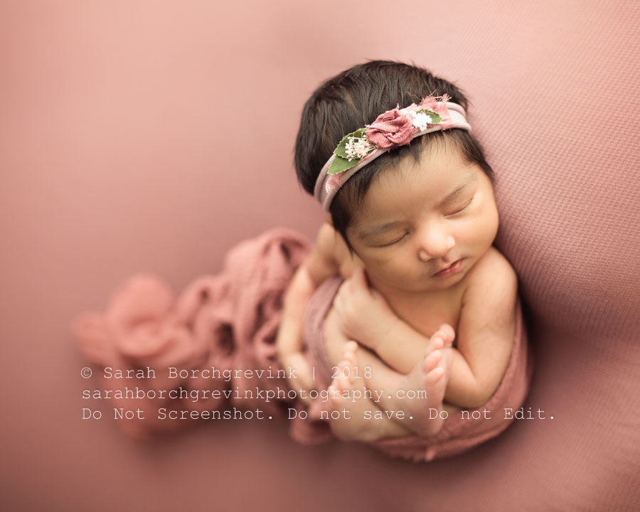 Pink and Mauve Newborn Color