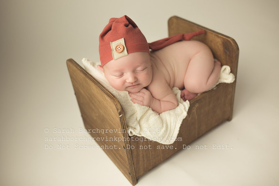 vintage newborn bed prop