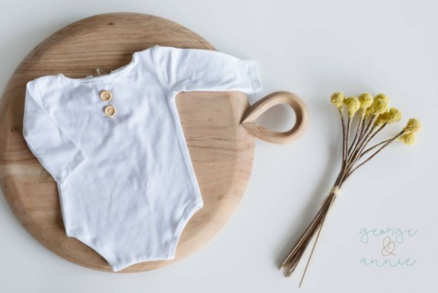 white long sleeve baby outfit