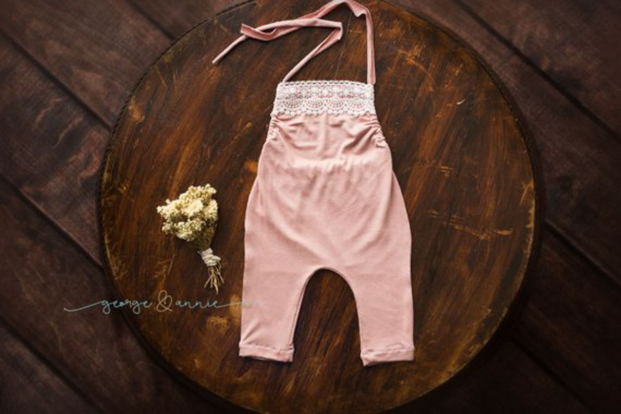 lacey pink baby girl outfit for pictures