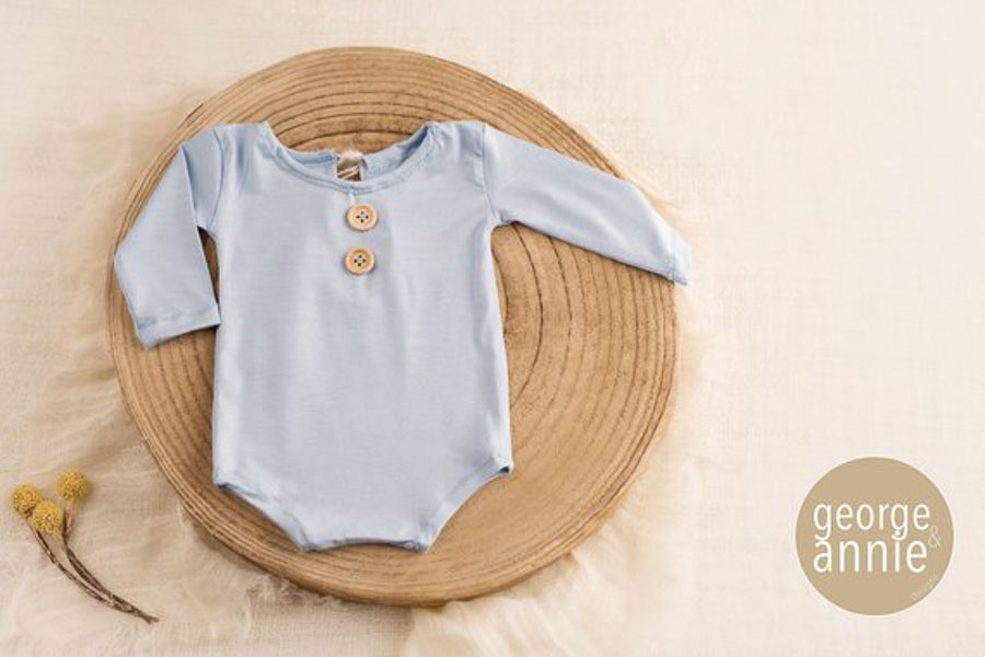 light blue for baby boy romper 12 months