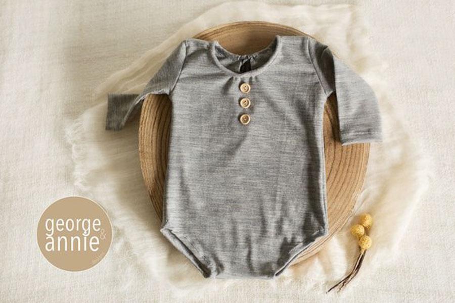 heather grey little baby boy outfit