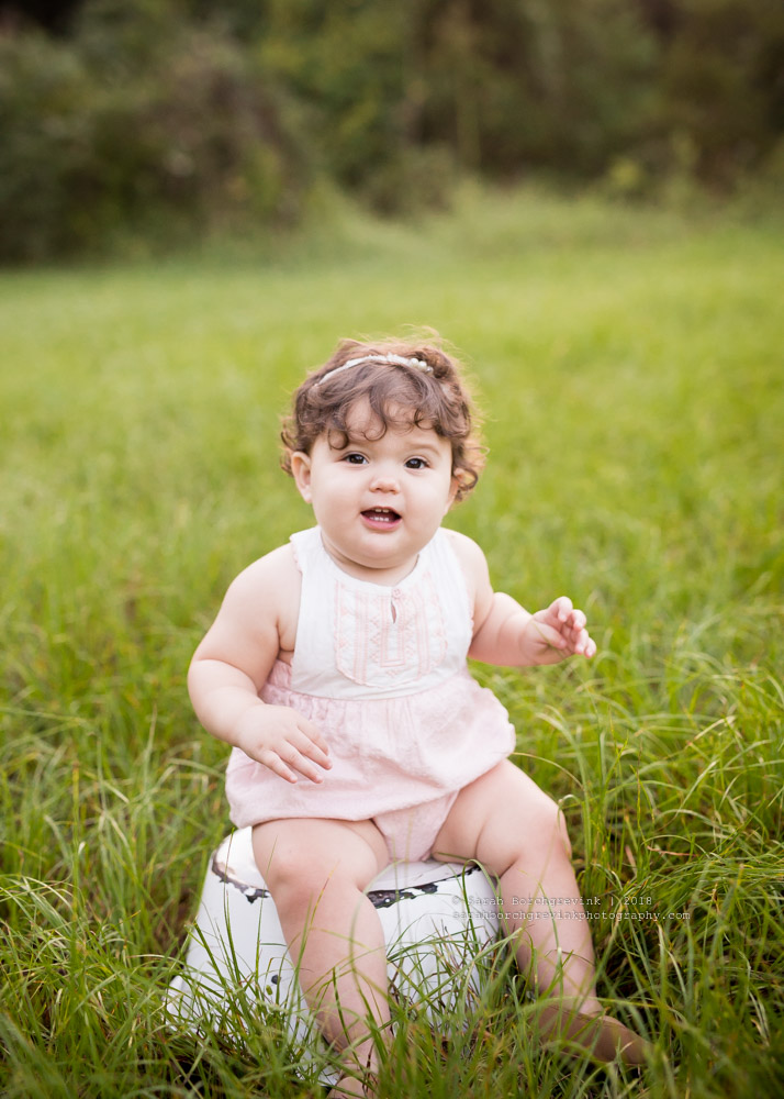 classic one year old portraits