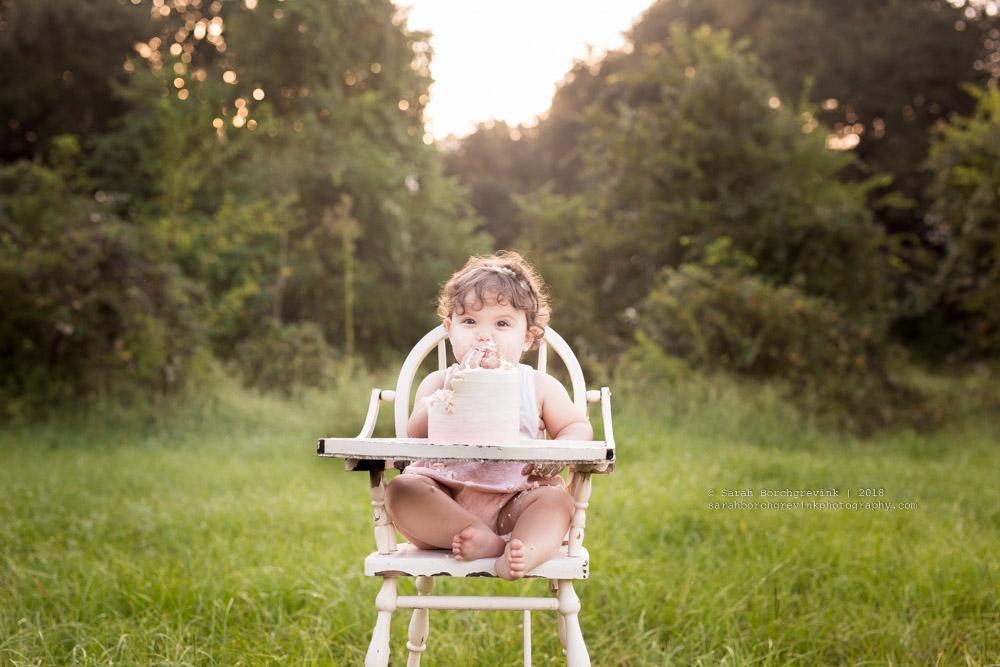 milestone baby photography cake smash