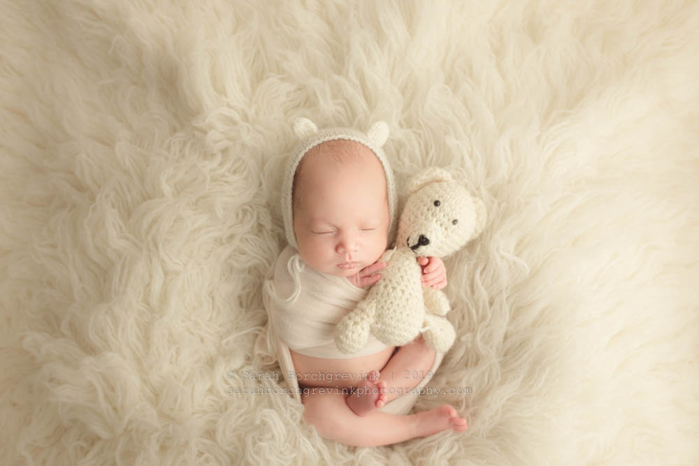 Adorable Teddy Bear Newborn Bonnet