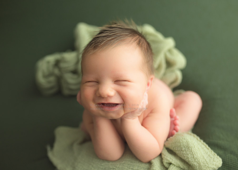 playful baby smile portraits