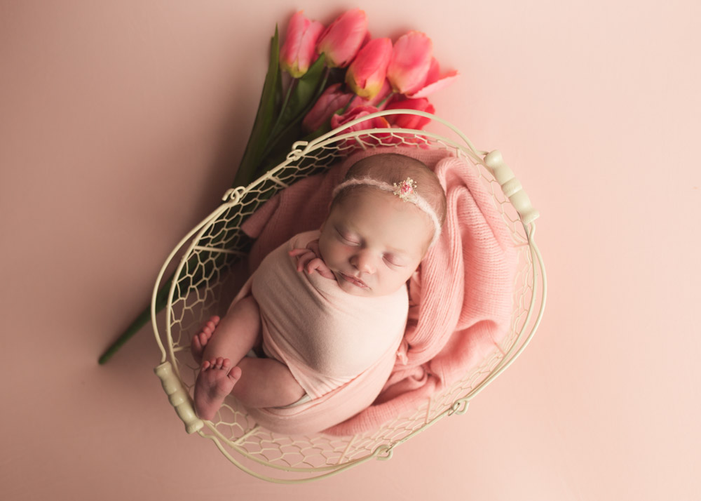 spring inspired baby portraits