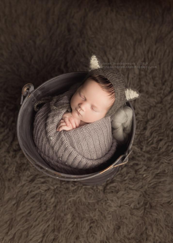 newborn prop wolf hat