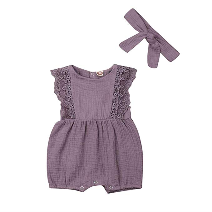 Purple and Mauve Linen Body Suit