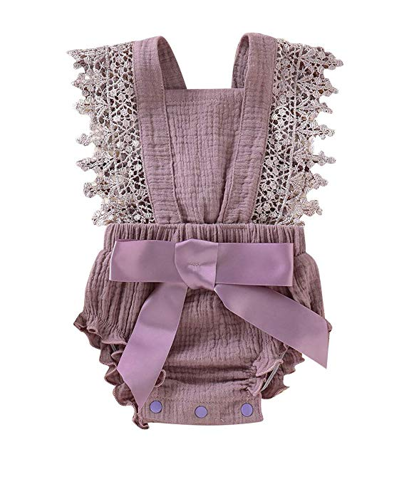Lilac Little Sitter Body Suit with Lace