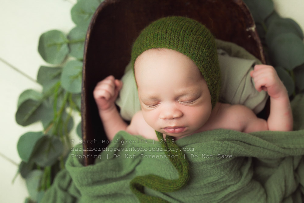 jade green newborn boy photoshoot