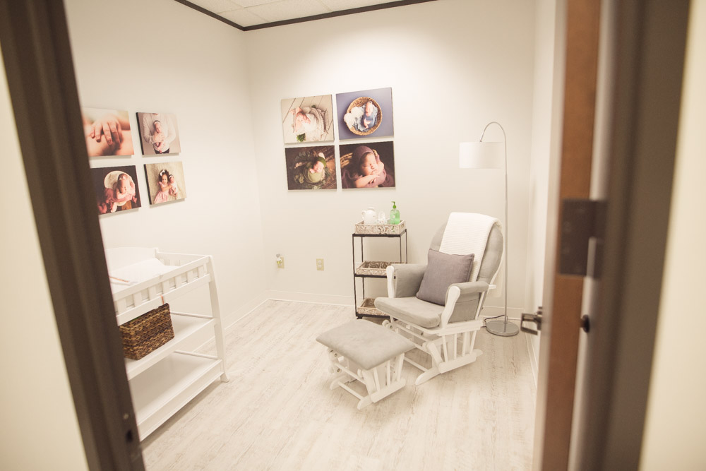 Breastfeeding room in studio