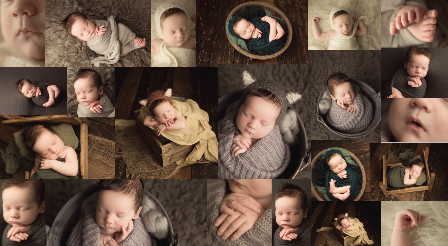 Wrapped Newborn Photography by Sarah Borchgrevink