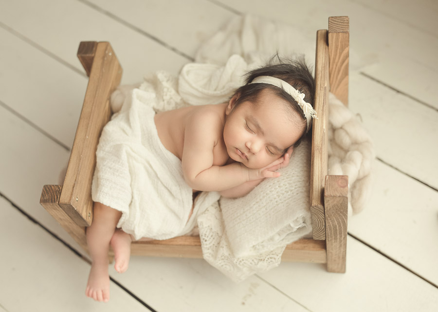 Newborn Baby Photography on Bed