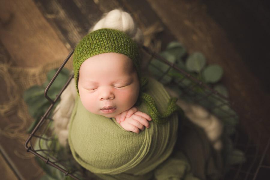 Posed Newborn Baby Portrait Photography