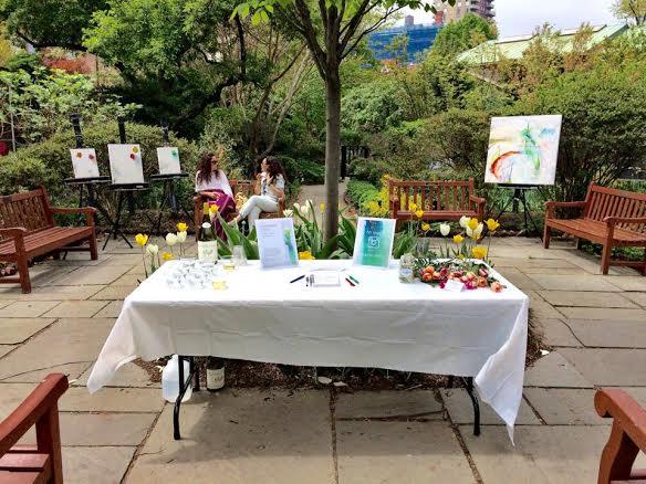 """""""Emergence"""" exhibitat St. Luke's Gardens in Manhattan's West Village"""