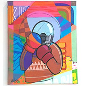 """""""Kiss Kiss Bang Bang"""" acrylic on canvas"""