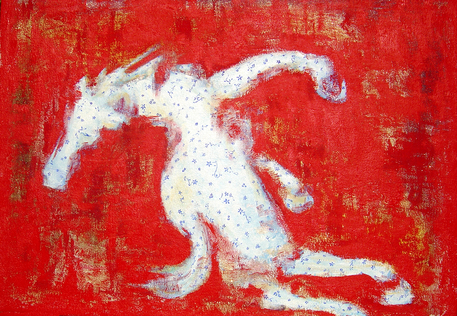 "Big Horse,  oil on canvas, 12"" x 15"", 2005"